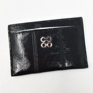 Coach Black Card Case Patent Leather NWT